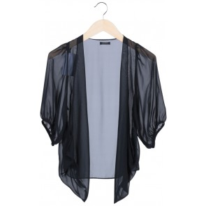 Black Sheer Outerwear