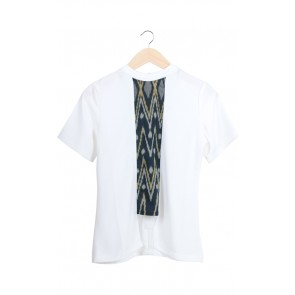 White Batik Blouse