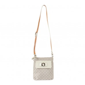 Oroton Cream Monogram Sling Bag