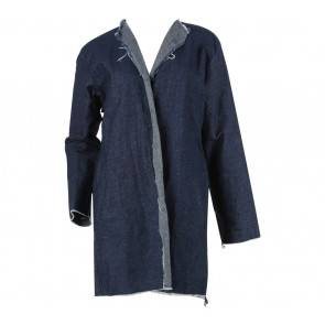 Dark Blue Back Ruffle Outerwear