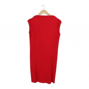 Shop At Velvet Red Pleated Mini Dress