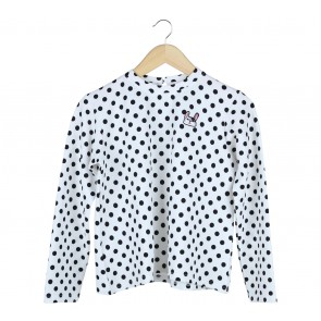 Cotton Ink Black And White Polka Dot Dog Blouse