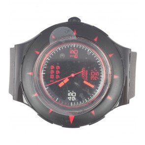 Swatch Black AC Milan Watch