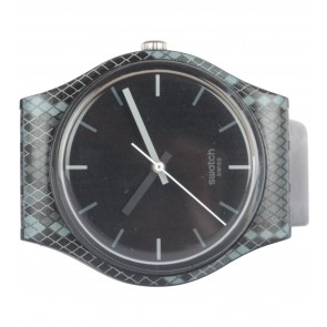 Swatch Black And Grey Snakeskin Watch