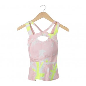 Multi Colour Cut Out Sleeveless