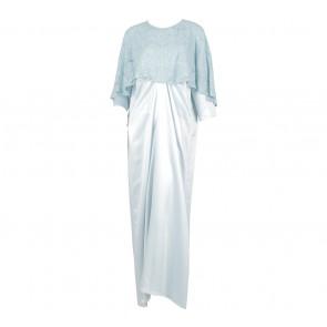 Sirin Blue Maxmara Premium Lace Long Dress
