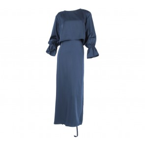 Sirin Dark Blue Reza Long Dress