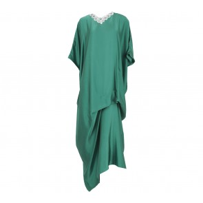 Sirin Green Necklace Long Dress