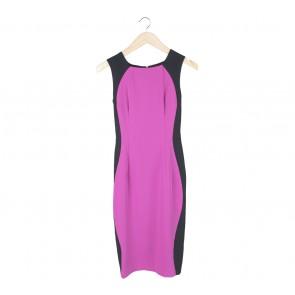 Stellarissa Purple And Black Yamka Midi Dress