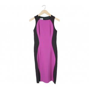 Stellarissa Purple And Black Yamka Midi Dress
