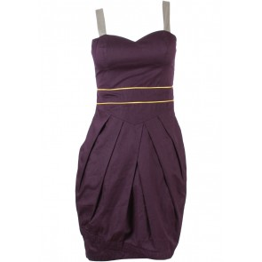 (X)SML Dark Purple Sleeveless Mini Dress