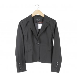 H&M Black Striped Blazer