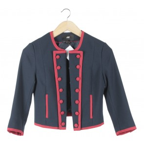 H&M Dark Blue And Red Blazer
