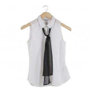 H&M White And Black Sleeveless