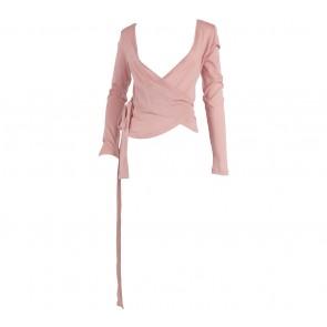 Kookai Pink Wrap Blouse