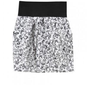 Zara Black And Off White Butterfly Pattern Skirt