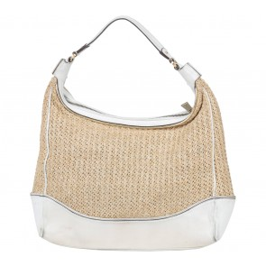 Calvin Klein White Plaited Shoulder Bag