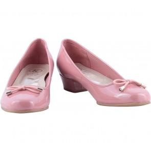 Clarks Pink Bow Detail Kitten Heels