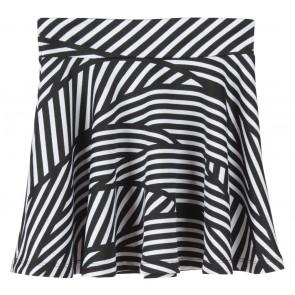 Forever 21 Black And White Striped Skirt