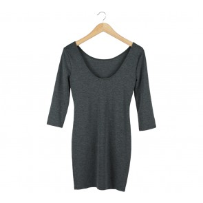 Forever 21 Dark Grey Low Back Mini Dress