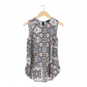 Topshop Multi Colour Floral Sleeveless Blouse