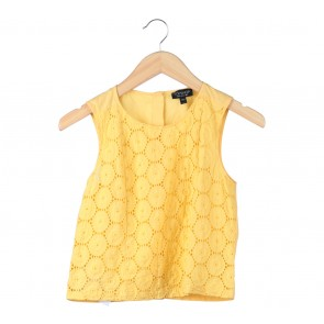 Topshop Yellow Holes Blouse