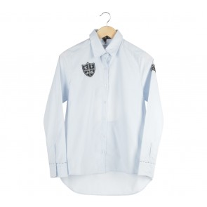 All Prim Up Blue Back Cut Out Shirt