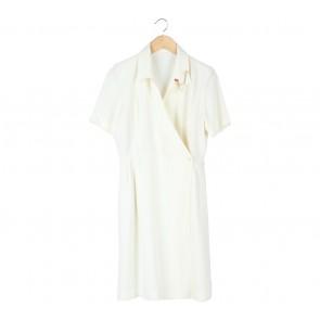 Off White Wrap Midi Dress