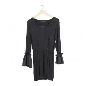 Zara Black Beaded Mini Dress
