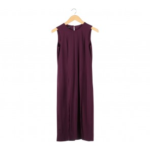 Milcah Purple Slit Midi Dress