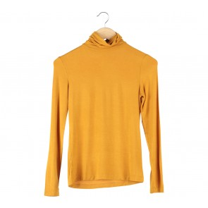 Stradivarius Yellow Turtle Neck Blouse