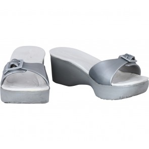 Hush Puppies White And Grey Wedges
