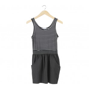 Cache-Cache Black And White Striped Mini Dress