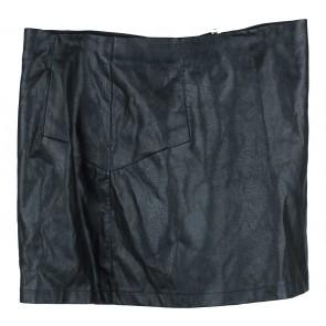 Cotton On Black Leather Short Skirt