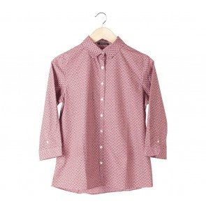 Lands´End Pink And Brown Shirt