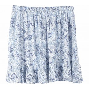New Look Blue Plaid Paisley Skirt