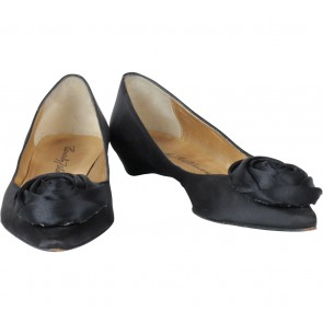 Beverly Feldman Black Rose Flats