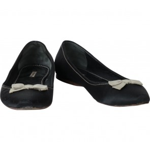 Miu Miu Black Ribbon Flats