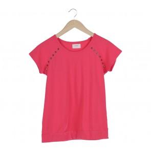 Gaudi Pink Metal Beads T-Shirt