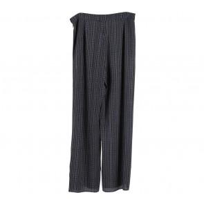 Zalora Black And White Pants