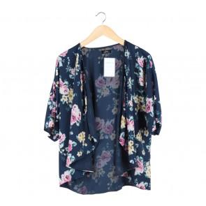 Ezra Dark Blue Floral Outerwear