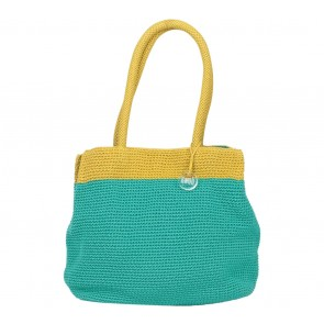 DOWA Green And Yellow Shoulder Bag