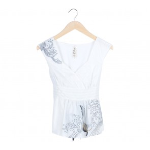 Floreat  White Ribbon Sleeveless