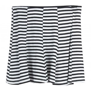 Bershka Black And White Striped Skirt