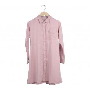 Cotton Ink Pink Shirt Mini Dress