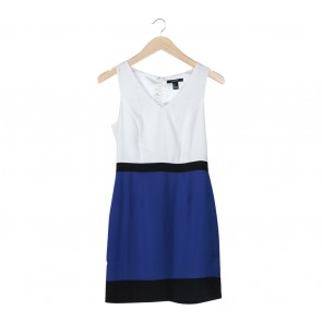 Forever 21 White And Blue Mini Dress