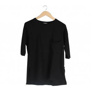 Zara Black Pocket T-Shirt