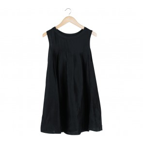 Black Ribbon Sleeveless Mini Dress