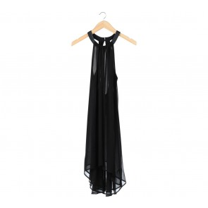 Topshop Black Trapeze Midi Dress