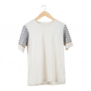 UNIQLO Cream Combi T-Shirt